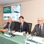 Manuel Villegas, consejero de Salud murciano, junto a Miguel Carrero, presidente del Grupo Previsión Sanitaria Nacional (PSN) y Alfredo Milazzo, presidente de la Fundación Ad Qualitatem