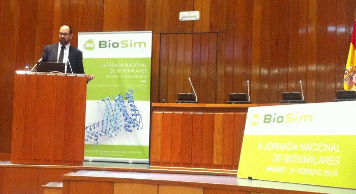 Antonio Blázquez, durante su intervención en el Ministerio de Sanidad.