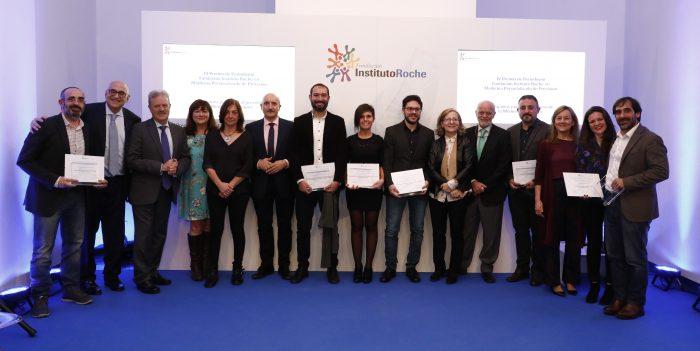 Foto de familia de la entrega de premios de la Fundación Instituto Roche.