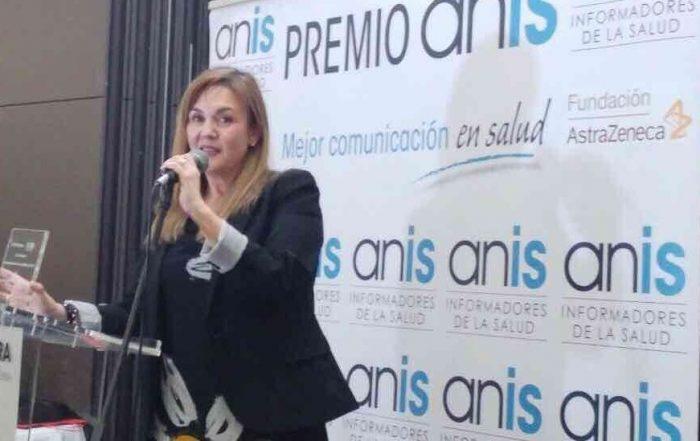Leonor Rodríguez recibe el Premio ANIS