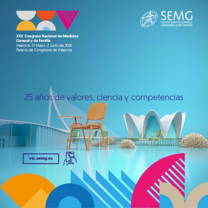 Cartel XXV Congreso Valencia SEMG 2018