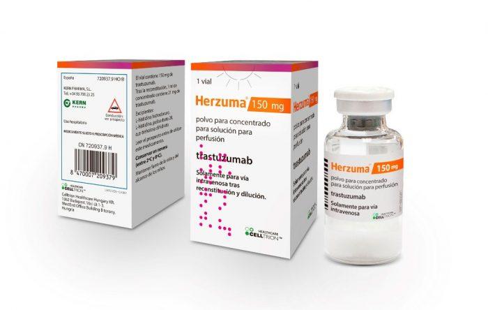 Herzuma, biosimilar de trastuzumab