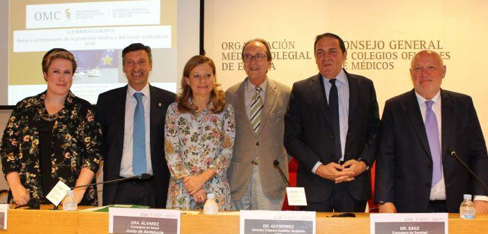 Integrantes de la mesa de gestión de las instituciones sanitarias europeas.