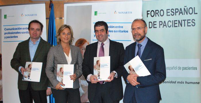 Presentación del Informe 'Comunicación entre profesionales sanitarios y pacientes'.