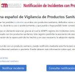 incidentes productos sanitarios AEMPS