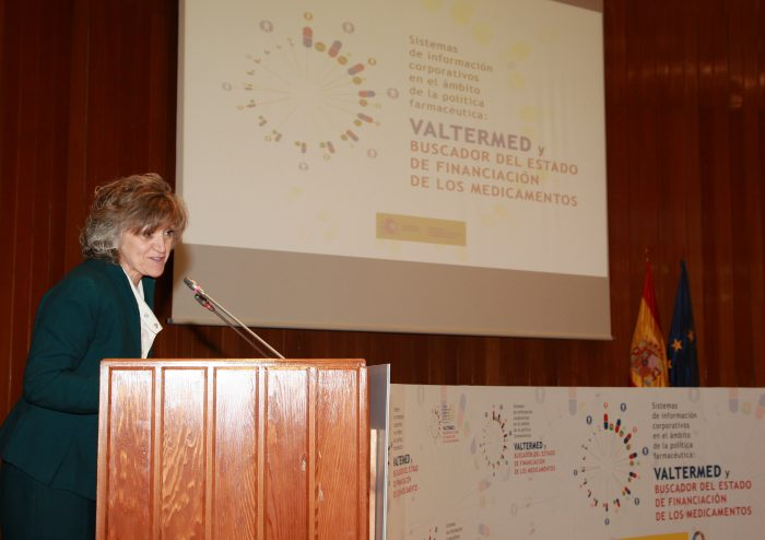 La ministra Carcedo, en la presentación de Valtermed.