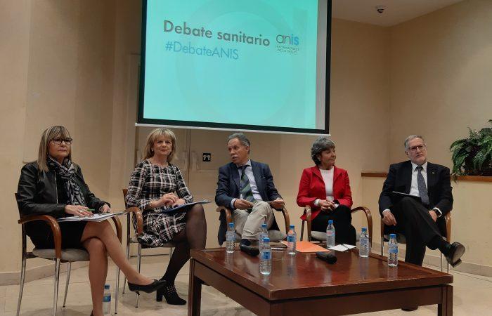 Portavoces políticos en el debate de ANIS.