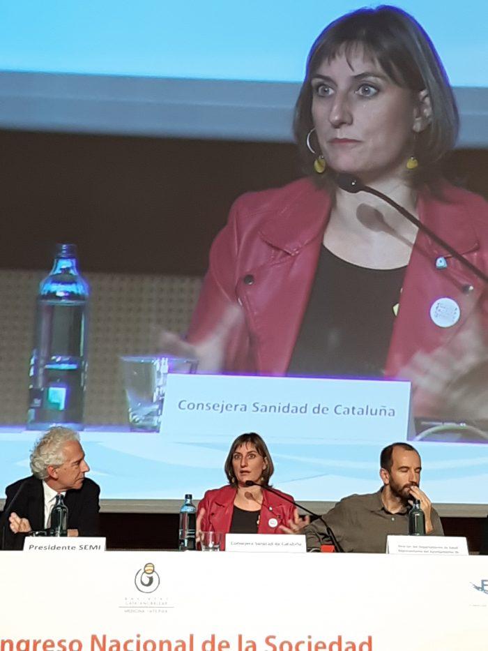 Alba Vergés, consellera de Salut de Cataluña.
