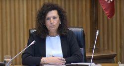 Josefa Cantero, presidenta de SESPAS, durante su intervención en la comisión del Congreso.
