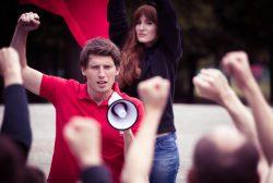 estudiantes manifestándose