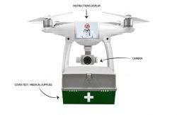 Dron para transportar pruebas de COVID-19