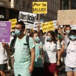 manifestación médicos residentes Madrid
