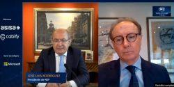 José Luis Rodríguez y Martín Sellés, durante la videoconferencia.