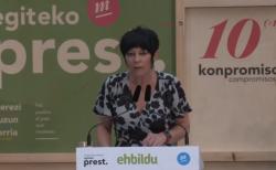 Maddalen Iriarte, candidata de EH-Bildu, que ha experimentado un aumento de escaños en las elecciones vascas