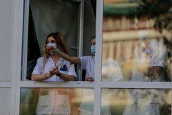 Médicos residentes madrileños, colectivo huelga MIR, durante la pandemia