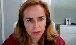 Olga Espallardo, presidenta de la Fundación para la Diabetes Novo Nordisk, durante la presentación virtual.