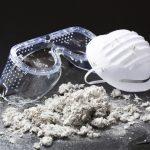 gafas y mascarilla protectora amianto