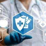 logo seguridad en la tecnología en medicina