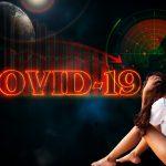 Jóven asustada por las consecuencias y confinamiento por el COVID-19