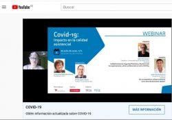 Captura de pantalla del vídeo de la Sociedad Española de Calidad Asistencial.