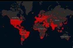 Gráfico mundial de la Universidad Johns Hopkins.