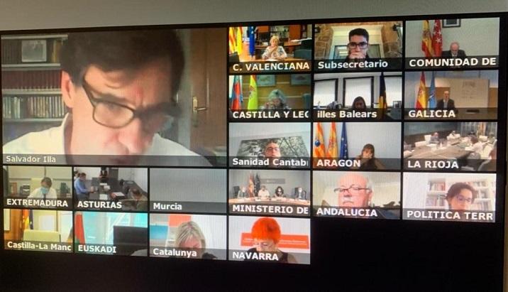 Reunión del Consejo Interterritorial, en el que se ha hablado de que España afronta la temporada de gripe.