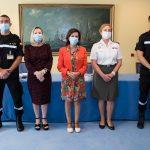 rueda de prensa sobre rastreadores militares