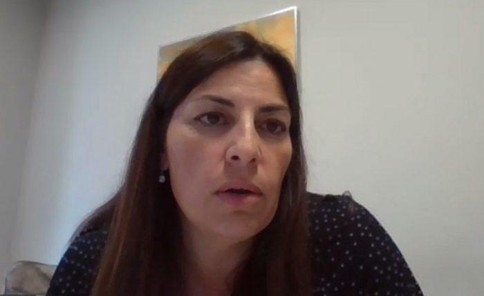 Concepción Gutiérrez, subdirectora de Atención Especializada de Extremadura, durante el coloquio paciente DM2 insulinizado
