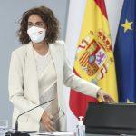 María Jesús Montero tras el Consejo de Ministros