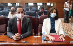 Isabel Díaz Ayuso e Ignacio Aguado anunciando plan de AP en Madrid de más de 80 millones