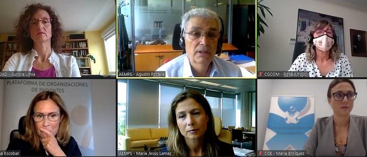 La vacunación ha sido el tema del debate organizado por la Plataforma POP. En la imagen, los participantes.