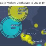 Mapa amnistía internacional sobre afectación de la COVID-19 en el personal sanitario