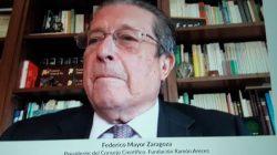 Mayor Zaragoza en la presentación del encuentro de la Fundación Areces