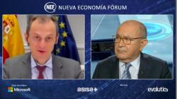 El ministro de ciencia junto al presidente del Foro Nueva Economía