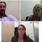 Rodríguez-Lescure, Enriqueta Felip y Margarita Majem han presentado el congreso virtual de la SEOM.