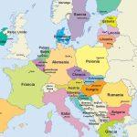Mapa de Europa, amenazada por la nueva cepa de coronavirus
