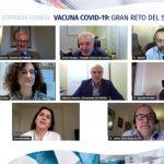 Imagen de los expertos participantes en la jornada de FUINSA, en la que han hablado de la inmunidad colectiva.