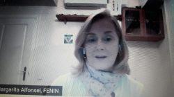 Margarita Alfonsel en el encuentro Fenin donde se dijo que El covid-19 ha puesto en primer plano la tecnología sanitaria