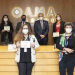 La Fundación AMA entrega el VII Premio Mutualista Solidario. Foto de los premiados