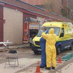 Foto de ambulancias. técnicos de emergencias sanitarias