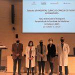 Foto de los responsables de la nueva cátedra de transferencia de conocimientos en cáncer de pulmón
