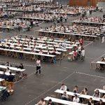 CESM reclama una segunda fecha para el examen MIR. Foto de archivo de un examen