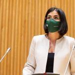 """Foto de Carolina Darias, ministra de Sanidad. """"El objetivo es reducir la incidencia de la COVID a 50 casos por 100.000 habitantes"""""""