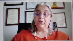 La doctora Fátima Cardoso, de Lisboa en la sesión de cáncer HER2