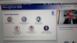 Panelistas de la sesión de cáncer HER2 en el Congreso Internacional de Cáncer de Mama