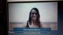 Ester Aguilar, paciente de EM participó en el encuentro de Novartis