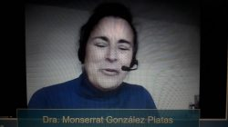 Montserrat González, neurológa, en el encuentro de Novartis