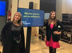 Josefina LLoret de Novartis y la periodista especializada en salud, Marta Fdez Rivera