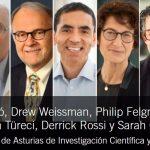 Los impulsores de las vacunas contra la COVID-19, premio Princesa de Asturias