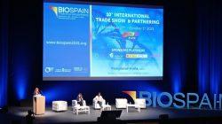 Chivite en la unauguración de Biospain
